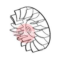 0000102297 Aluminium fan wheel 50Hz