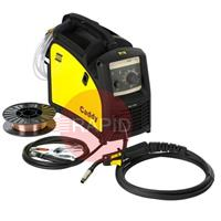 0349310850 ESAB Caddy Mig C160i Mig Welder Package with 3M Torch, Earth, Gas Hose & 1kg A18 0.8mm Wire, 230v
