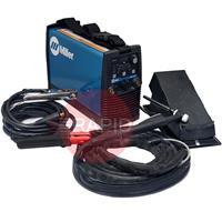 059016013PFP Miller STH 160 DC Pulse Tig Welder Package with WP17 Torch, Foot Pedal & MMA Cable Set, 230v