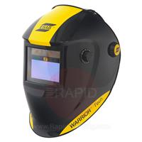 0700000400 ESAB Warrior Tech Welding Helmet Black, Shade 9 - 13