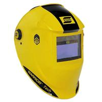 0700000401 ESAB Warrior Tech Welding Helmet Yellow & Black, Shade 9 - 13