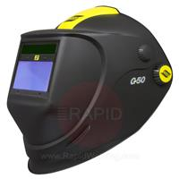 0700000438 ESAB G50 Flip Up Welding & Grinding Helmet with Shade 9 - 13 Auto Darkening Lens