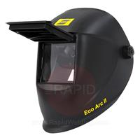 0700000761 ESAB ECO ARC II Flip Front Welding Helmet, with 110mm x 60mm Shade 11 Passive Lens