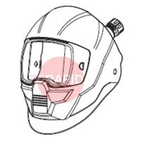 0700000813 ESAB Sentinel A50 Air Helmet Shell With Air Duct (Without ADF/Headgear/Face Seal)