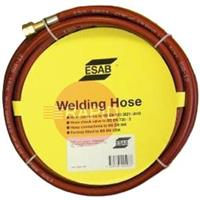 071262102P ESAB Acetylene Hose - Red, 10mm x 5m, Fitted 3/8