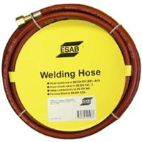 071262205P ESAB Acetylene Hose - Red, 6mm x 10m, Fitted 3/8