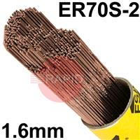151650E ESAB 12.62 A15 Steel Tig Wire, 1.6mm diameter, 5kg Pack, ER70S-2