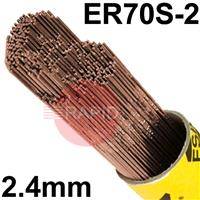 152450E ESAB 12.62 A15 Steel Tig Wire, 2.4mm diameter, 5kg Pack, ER70S-3