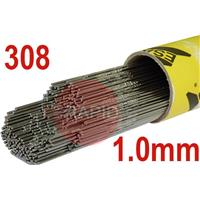 308105 308L Stainless Tig Wire 1.0mm Diameter. 5kg pkt.