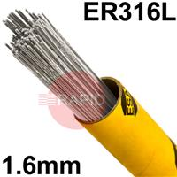 316165 316L Stainless Tig Wire 1.6mm Diameter. 5kg pkt