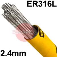 316245 316L Stainless Tig Wire 2.4mm Diameter. 5kg pkt