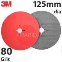 3M-27650 3M Cubitron II 987C 125mm (5 Inch) Fibre Disc - 80 Grit (Pack of 25)