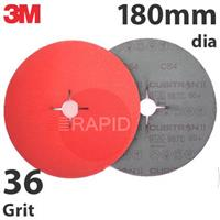 3M-27744 3M Cubitron II 987C 180mm (7 Inch) Fibre Disc - 36 Grit (Pack of 25)