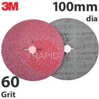 3M-27770 3M Cubitron II 982C Fibre Disc, 100mm dia, 60+ Grit (Pack of 25)