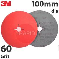 3M-27773 3M Cubitron II 987C 100mm Fibre Disc - 60 Grit (Pack of 25)