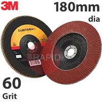3M-51486 3M Cubitron II 969F 180mm (7 Inch) Flap Disc, 60 Grit  - Flat (Box of 10)