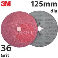 3M-55073 3M Cubitron II 982C 125mm (5 inch) Fibre Disc - 36 Grit (Pack of 25)