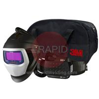 3M-567715 3M Speedglas 9100X Air Welding Helmet with New Adflo Powered Air Respirator, 5/8/9-13 Variable Shade, 54mm x 107mm Lens Viewing Area
