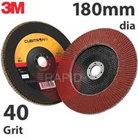 3M-65060 3M Cubitron II 967A 180mm (7 Inch) Flap Disc, 40 Grit - Conical (Box of 10)