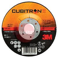 3M-81157 3M Cubitron II 115mm (4 1/2 Inch) Cut & Grind Disc