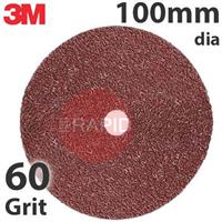 3M-89717 3M 782C Fibre Disc, 100mm dia, 60+ Grit, Box of 25