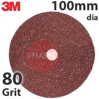 3M-89721 3M 782C Fibre Disc, 100mm dia, 80+ Grit, Box of 25
