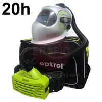 4550.400.GL Optrel E684 Auto Darkening Welding Helmet and E3000 20 Hours PAPR System, Ready to Weld Package