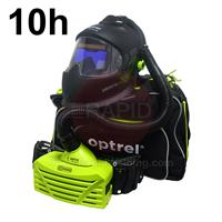 4550.500.G Optrel Panoramaxx Auto Darkening Welding Helmet and E3000 10 Hours PAPR System, Ready to Weld Package
