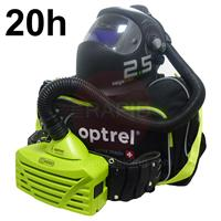 4580.001.GL Optrel Vegaview 2.5 Auto Darkening Welding Helmet and E3000 20 Hours PAPR System, Ready to Weld Package