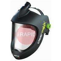 4900.020 Optrel Clearmaxx PAPR Helmet with Headband, Airduct (for E3000) and Faceseal - Black
