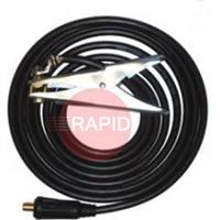 50XX35R Earth Return Cable Assembly. 50mm Sq Cable 35/50mm Dinse Termination. 400amp