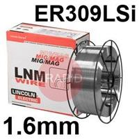 581706 Lincoln Electric LNM 309LSi Stainless Steel Mig Wire, 1.6mm Diameter, 15.0 Kg Reel, ER309LSi, G 23 12 L Si