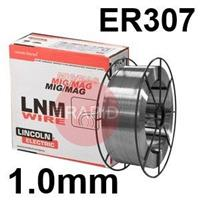 581904 Lincoln Electric Stainless Steel MIG Wire LNM 307 1.0mm Diameter 15.0 Kg Reel, ER307, G 18 8 Mn