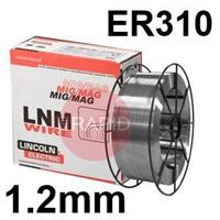 581935 Lincoln Electric LNM 310 Stainless Steel Mig Wire 1.2 mm Diameter 15.0 Kg Reel, ER310, G 25 20