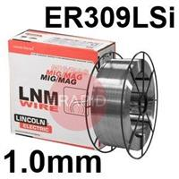 595789 Lincoln Electric LNM 309LSi Stainless Steel Mig Wire, 1.0mm Diameter, 15.0 Kg Reel, ER309LSi, G 23 12 L Si