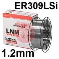 595796 Lincoln Electric LNM 309LSi Stainless Steel Mig Wire, 1.2mm Diameter, 15.0 Kg Reel, ER309LSi, G 23 12 L Si