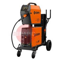6132320SPKGAC Kemppi FastMig M 320 Synergic Air Cooled Mig Welder Package with PMT 42 Torch, 400v 3Ph CE