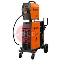6132420SPKGWC Kemppi FastMig M 420 W Synergic Water Cooled Mig Package with MXF 65 Wire Feeder, Fastcool 10, PMT 42W 3M Torch, PM500 Undercarriage and 1.8m Interconnection, 400v 3ph