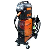 6132420SPWC Kemppi FastMig M 420 W Synergic Water Cooled Mig Package with MXF 67 Wire Feeder, FastCool 10, PMT 42W, 400v 3ph