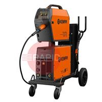 6132520SPKGAC Kemppi FastMig M 520 Synergic Air Cooled Mig Welder Package with PMT 42 Torch, 400v 3Ph CE