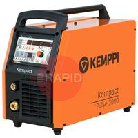 621830002 Kemppi Kempact Pulse 3000 Compact Mig Welder. Includes Earth Cable & Gas Hose. 400V CE