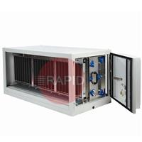 7942042000 Plymovent SFE-75 Stationary Filter Unit with Electrostatic Filter 7500 m³/h, 400v 3ph, Left - Right Airflow