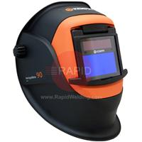 9873047 Kemppi Beta 90X Welding Helmet. Fitted With Variable Shade 4/9-15 EW Auto Darkening Filter. Flip Front For Grinding