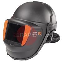 9873066 Kemppi Delta 90 FreshAir Welding Helmet with Fixed Shade Auto Darkening Lens