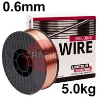 A18065 Lincoln Ultramag Premium Quality A18 Mig Wire For Steel. 0.6mm Diameter 5kg Spool