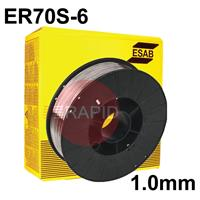 A18105P ESAB AristoRod 12.50 Premium A18 (ER70S-6) Mig Wire for Steel. 1.0mm Diameter 5kg Spool