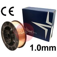 A1810 Bohler SG2 Copper Coated Steel A18 G3SI1 Welding Wire. 1.0mm Diameter x 15Kg Reel. ER70S-6, CE Approved