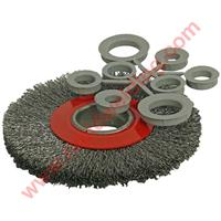 ABWFBG Abracs Wide Faced (Bench Grinder) Brushes (Pack of 5) including adapter bushes