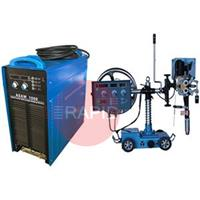 ASAW1000 Digital Submerged Arc Welding Package. Includes Tractor with wire feeder,controller, welding torch & flux hopper, 1000 Amp Power Source,15M Cable Set And 3M Earth