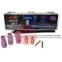 CK-AK1 CK Tig Torch Accessory Kit  For CK9, CK130 & Kemppi 130. (See Chart For Contents)